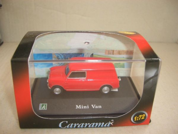 Cararama 1/72 Scale Leyland Mini Van Red